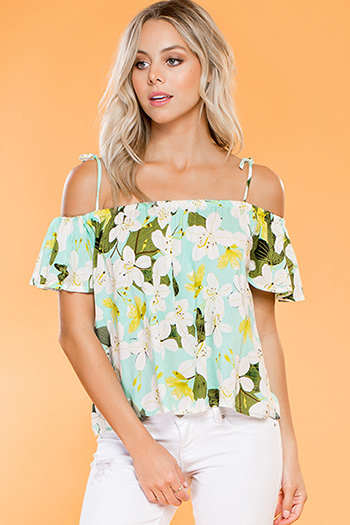 Junior Off-Shoulder Blouse with Bow Tie Strap