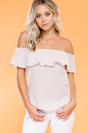 Junior Off-Shoulder Flounce Top