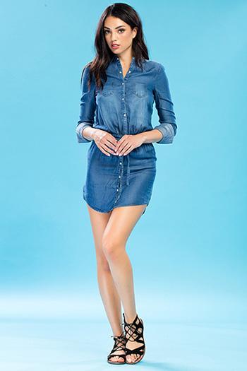 Junior Luxe Long Sleeve Dress