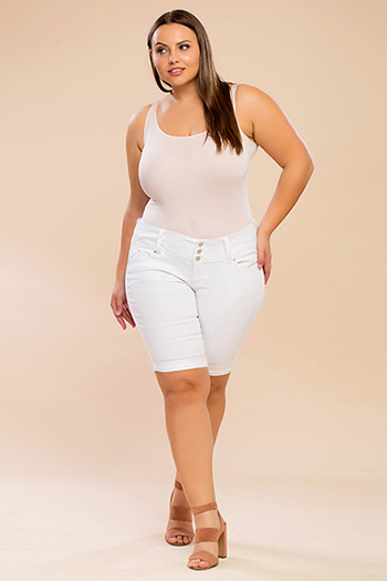 Junior Plus Size WannaBettaButt Bermuda Shorts