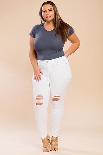 Junior Plus Size Super Soft Skinny Jeans