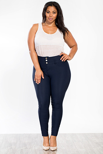 Junior Plus Size High Waist Hyperstretch Skinny