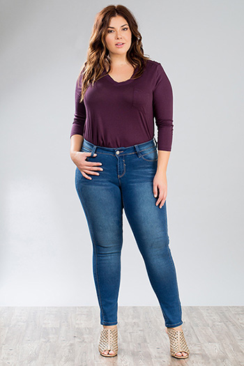 Junior Plus Size Slim-Hers Skinny Jean