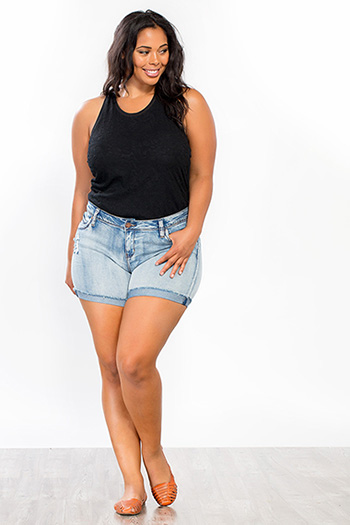 Junior Plus Size Flap-Pocket Shorts