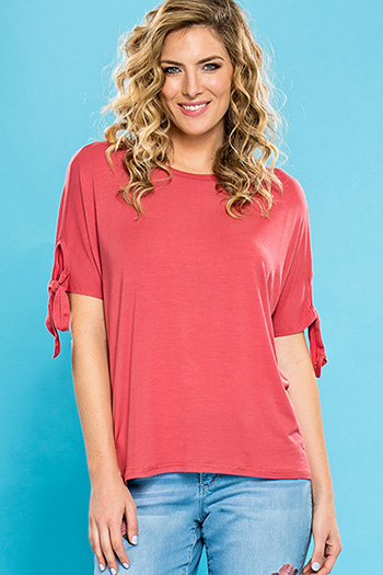 Women Tie Detail Dolman Sleeve Top