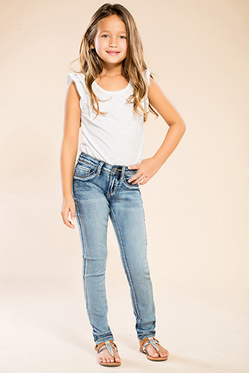 Kids Faux Front Pocket Skinny Jean