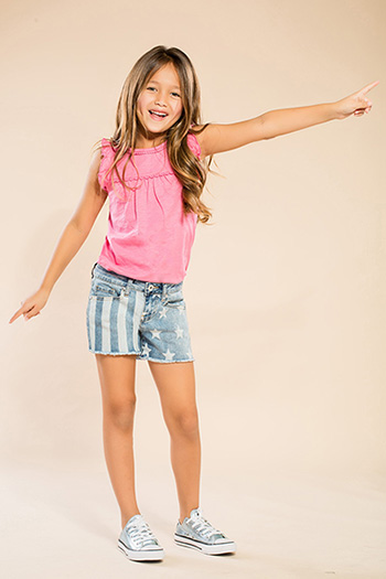 Kids Stars & Stripes Frayed Hem Shorts