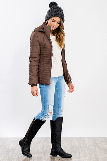 Junior Quilted Puffer Hood Jacket