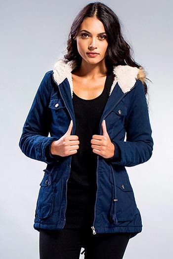 Junior Faux Fur Trimmed Hood Jacket