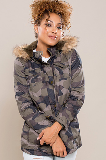 Junior Faux Fur Trimmed Hood Utility Jacket