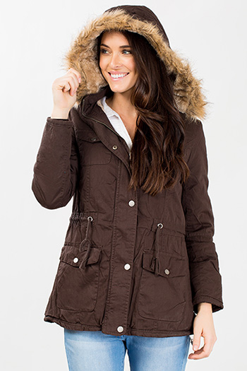 Women Faux Fur Hooded Parka