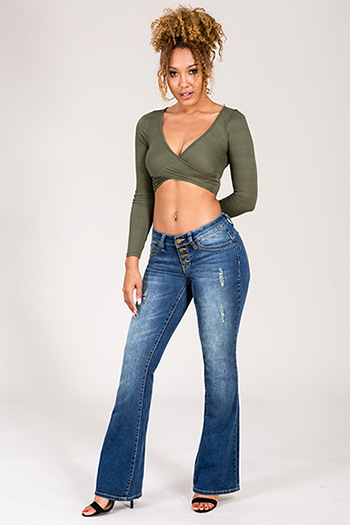 Junior WannaBettaButt Four-Button Flare Jean