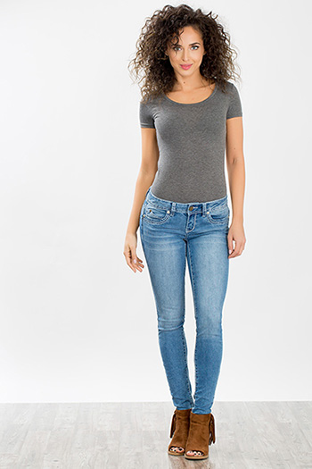 Junior WannaBettaButt Heavy Stitch Skinny Jean
