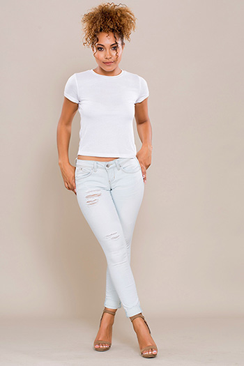 Junior WannaBettaButt Roll-Up Skinny Jean