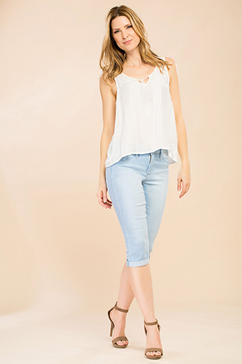 Women Petite Super Soft Capri