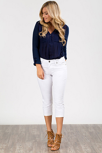 Women Petite WannaBettaButt Twill Flood