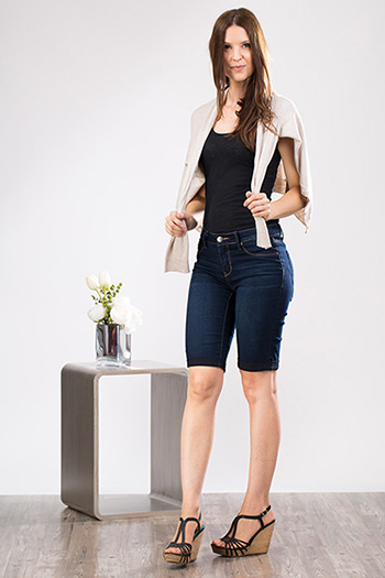 Women Petite Super Soft Bermuda Shorts