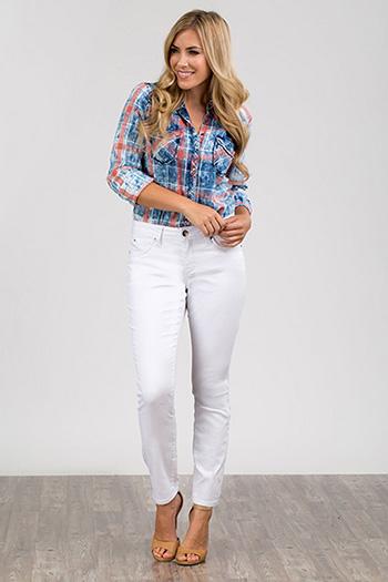 Women Petite WannaBettaButt Twill Skinny Jeans