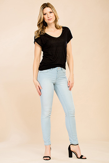 Women Petite Super Soft Skinny Jeans