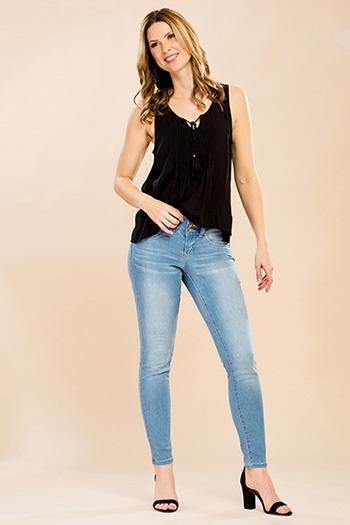 Women Petite WannaBettaButt Wide Waist Skinny Jean