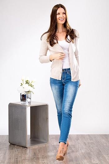 Women Petite WannaBettaButt Heavy Stitch Jeans