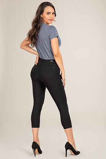 Women Petite Basic Hyperstretch Ankle Jean