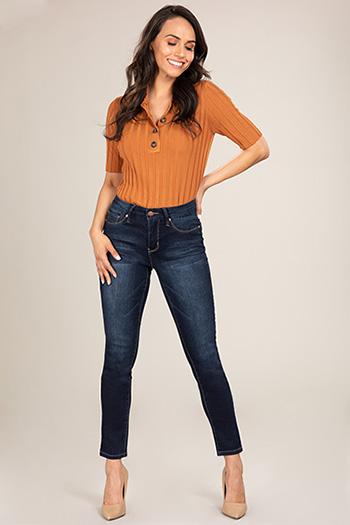 Women Petite Modern Mid-Rise Skinny Jean