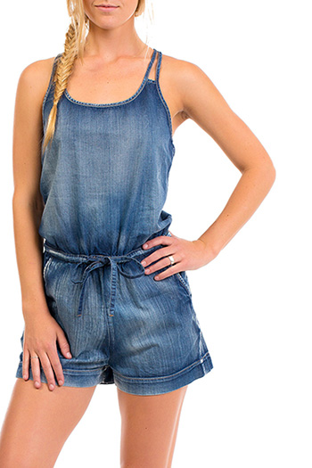 Junior Chambray Romper