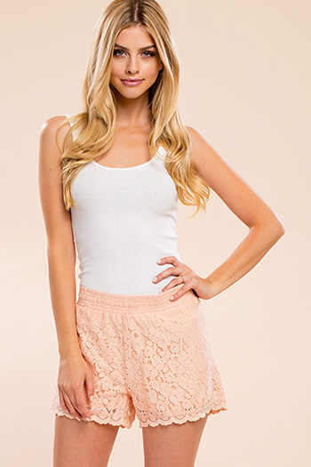 Junior Knit Lace Shorts
