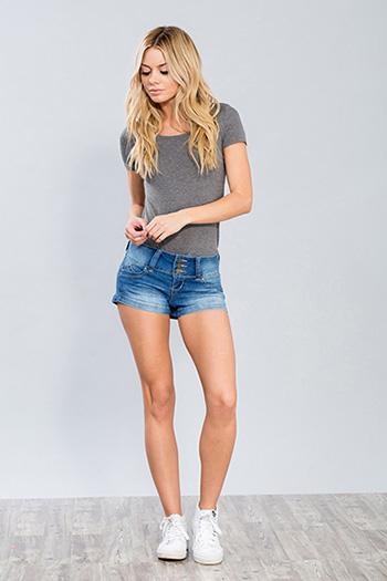 Junior Triple-Button WannaBettaButt Shorts
