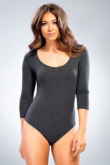 Junior Scoop-neck 3/4 Sleeve Bodysuit