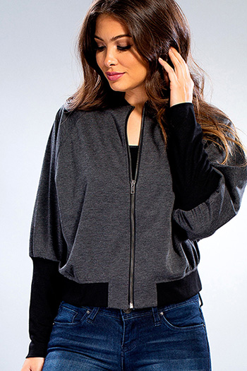 Junior Bomber Jacket with High Cuffed Sleeves