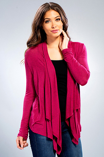 Junior Long Sleeve Waterfall Cardigan