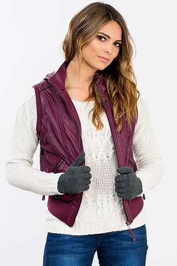 Junior Faux Leather Vest