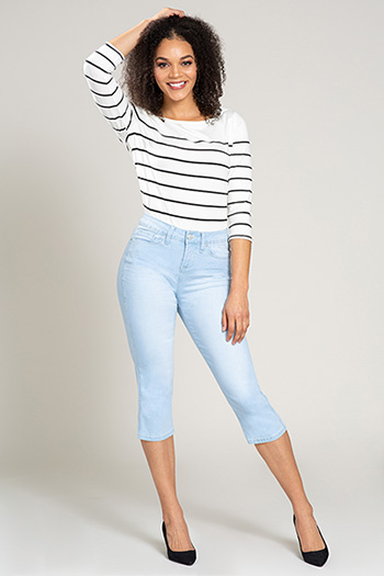 Women Hide Your Muffin Top High-Rise Crop Denim Jean