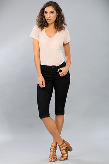 Women Super Soft Basic Capri