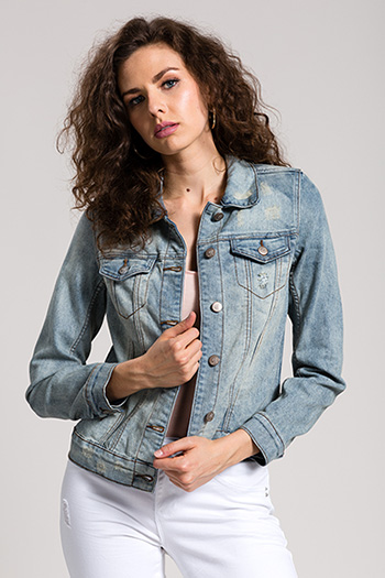 Women Basic Denim Jacket