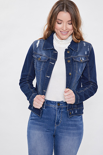 Women Distressed Denim Jacket