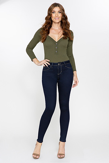 Women Basic Hyperstretch Skinny Jean