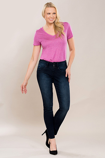 Women WannaBettaButt 3-Button Skinny