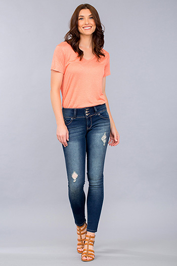 Women WannaBettaButt Triple-Button Jegging