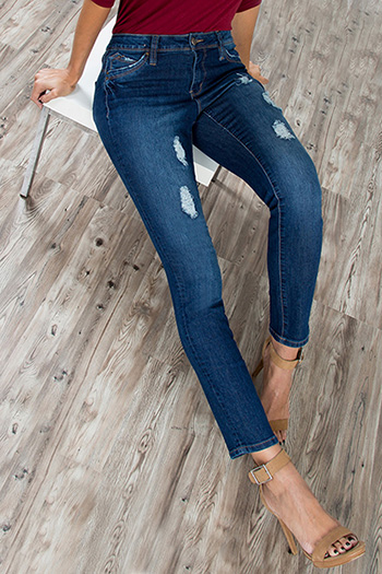 Women WannaBettaButt Distressed Skinny Jeans