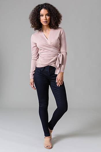 Women 3-Button Basic Skinny