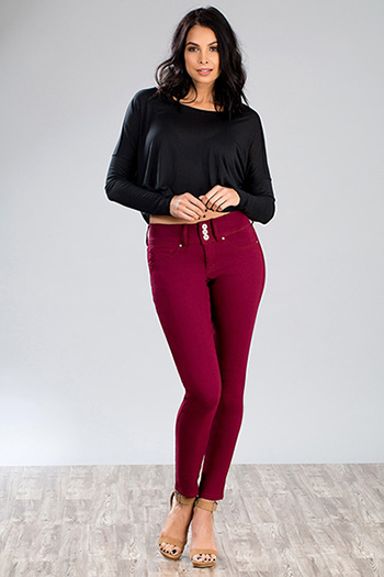 Women Hyperstretch 3-Button Skinny