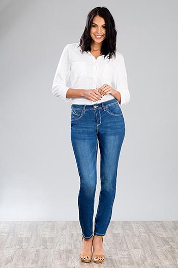 Women WannaBettaButt Heavy Stitch Skinny Jeans