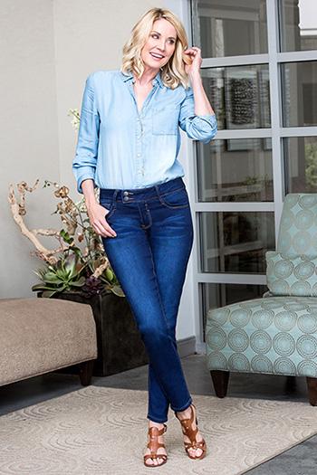 Women Extended Tab Slim-Hers Skinny Jeans