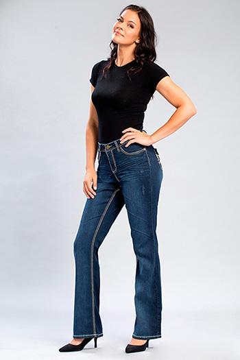 Womens WannaBettaButt Heavy Stitch Bootcut Jeans