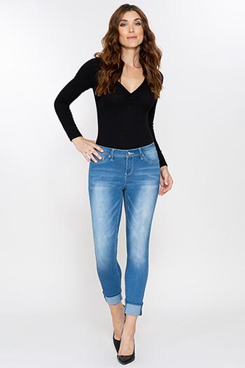 Women Luxe Cuffed Skinny Jean