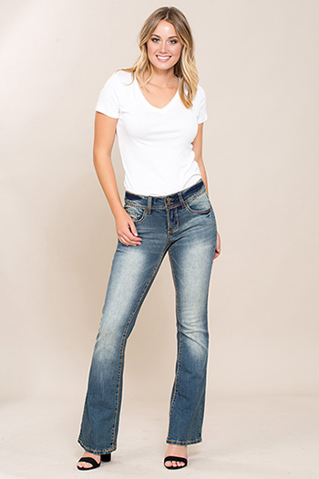 Women 2-Button Bootcut with Heavy Stitch