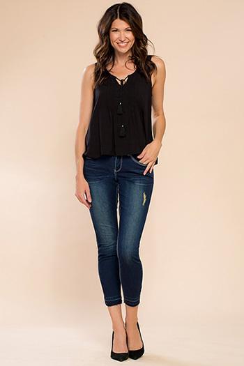 Women Luxe Release Hem Skinny Jean
